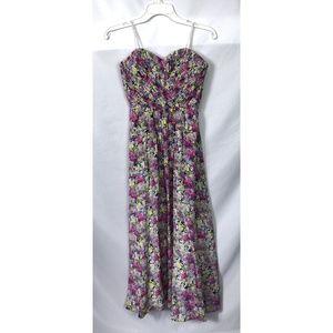 Yumi Kim Floral Strapless Maxi Dress
